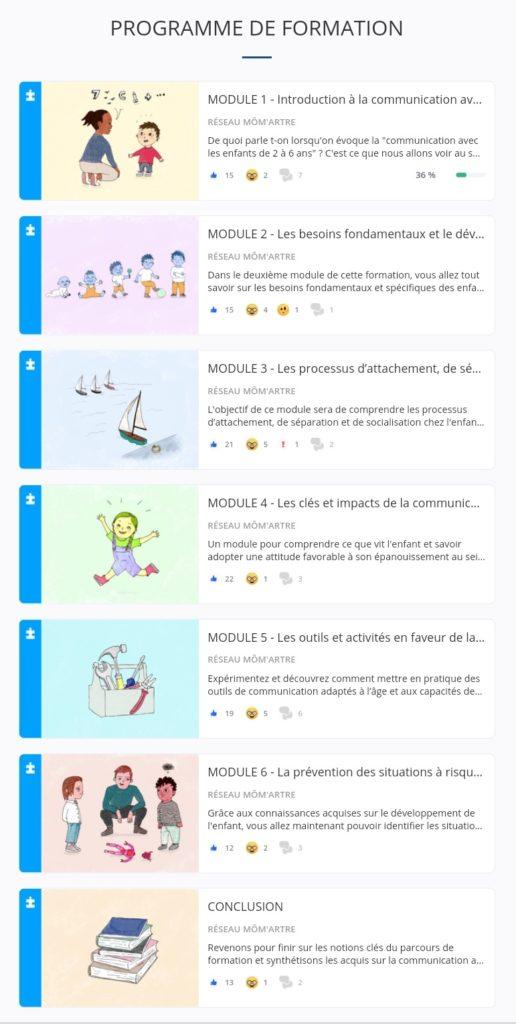 Une formation e-learning en 6 modules sur la communication avec les enfants de 2 à 6 ans